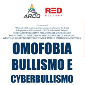 Omofobia e cyberbullismo, se ne parla il prossimo 14 giugno a Bologna