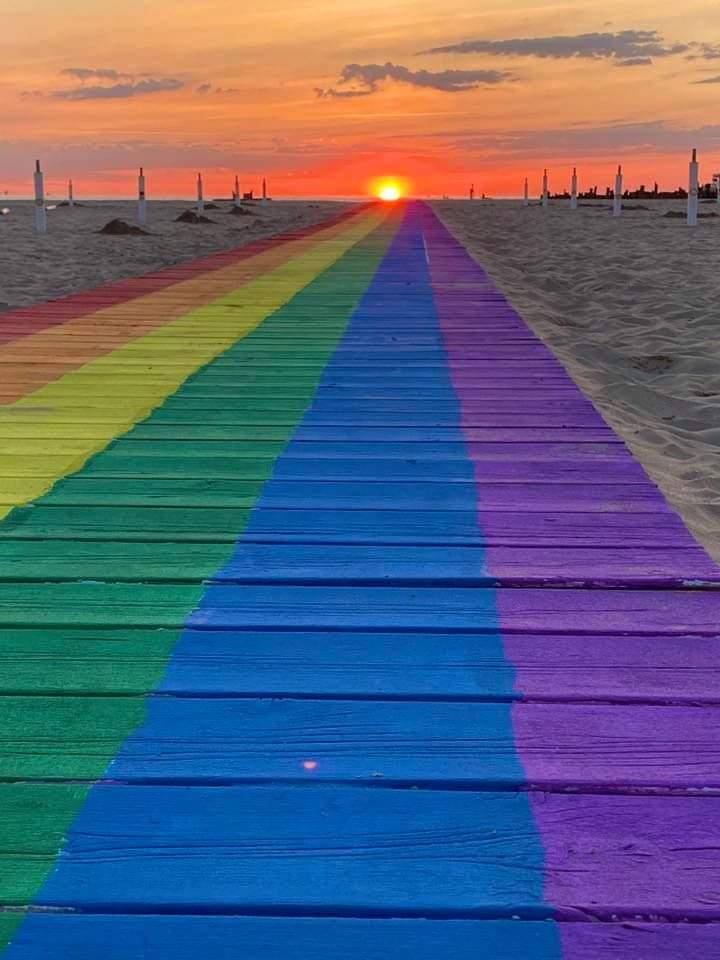 Passerella arcobaleno, l'esperienza sul litorale di Rimini