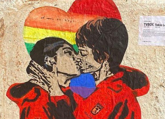 """Tvboy, nuovo murale con Tokyo e Nairobi de """"La Casa di Carta"""""""